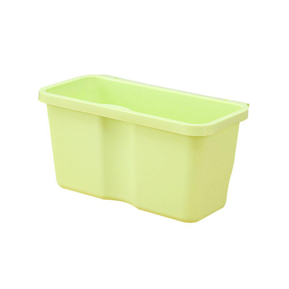 Kitchen Plastic Hanging Trash Can - TEA GREEN LARGE