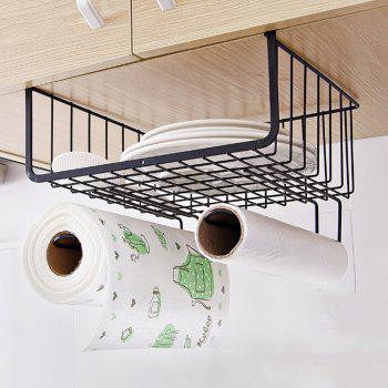 Cabinet Compartment Storage Rack - BLACK