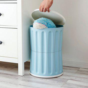 Household Multifunctional Plastic Storage Stool - ROBIN EGG BLUE