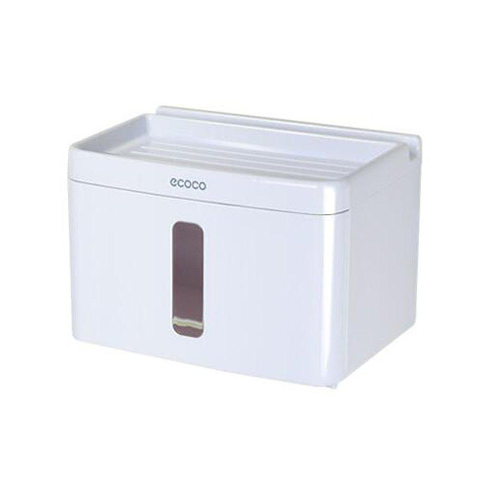 Bathroom Suction-Free Suction Cup Tissue Box - WHITE SMALL