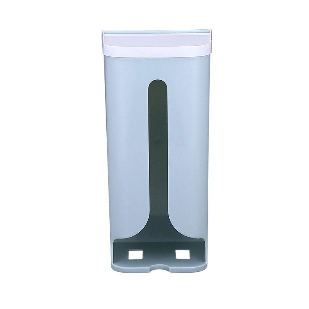 Wall-Mounted Garbage Bag Debris Plastic Storage Box - LIGHT BLUE
