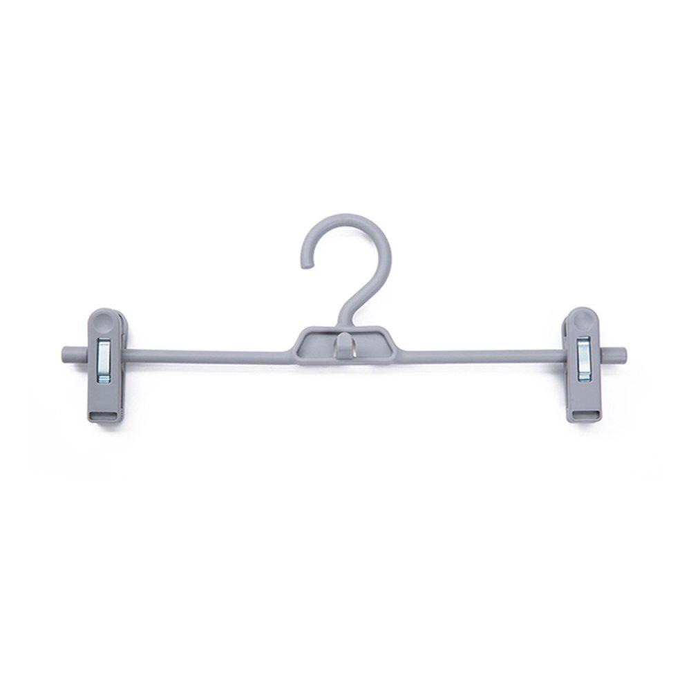 Double Buckles and Non-Slip Pants Shelves 3 PCS - DARK GRAY