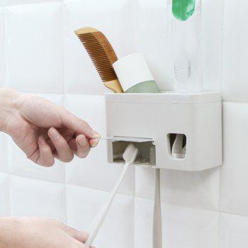 Multifunctional Sucker Automatic Toothpaste Dispenser - WARM WHITE