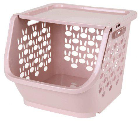 Household Stackable Storage Baskets - LIGHT PINK
