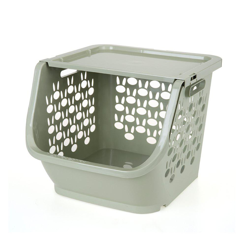Household Stackable Storage Baskets - GREEN THUMB