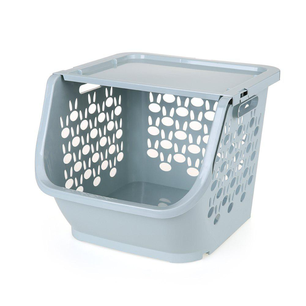 Household Stackable Storage Baskets - LIGHT BLUE
