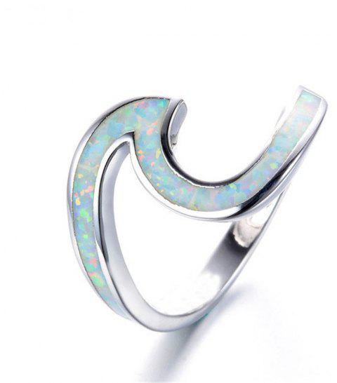 Hot Sale New Style Ring Wave Fashionable for Men and Women - WHITE 10