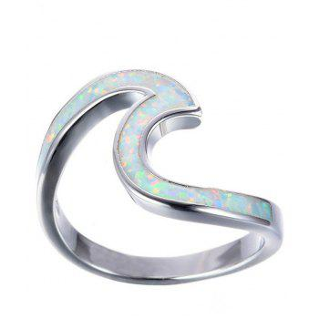 Hot Sale New Style Ring Wave Fashionable for Men and Women - WHITE 7