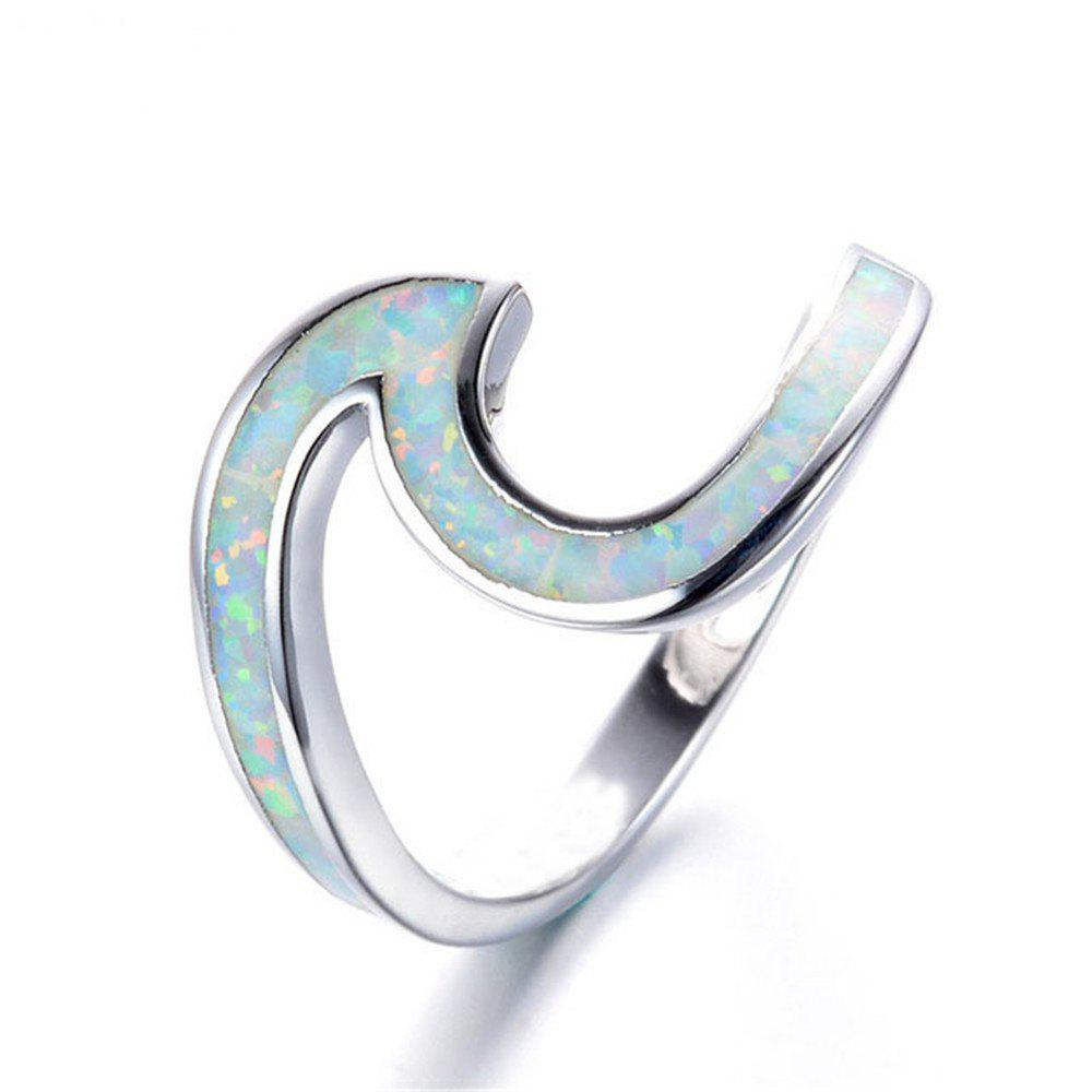 Hot Sale New Style Ring Wave Fashionable for Men and Women - WHITE 8