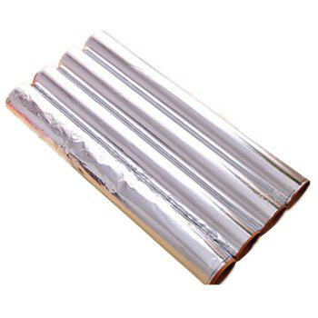 Baking Tin Aluminium Foil for Barbecue Cake Cookies Thickening for Oven - SILVER