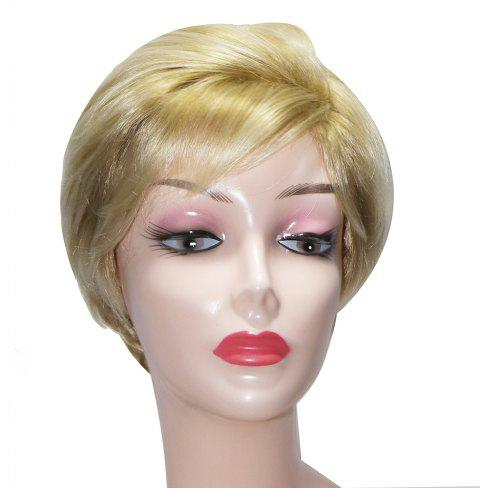 8f339ef10 Fashion Short Wavy Synthetic Wigs Light Blonde Hair Side Bang for European  Women - BLONDE 8INCH