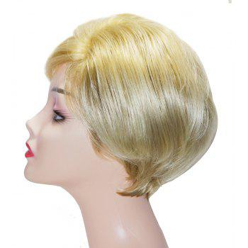 Fashion Short Wavy Synthetic Wigs Light Blonde Hair Side Bang for European Women - BLONDE 8INCH