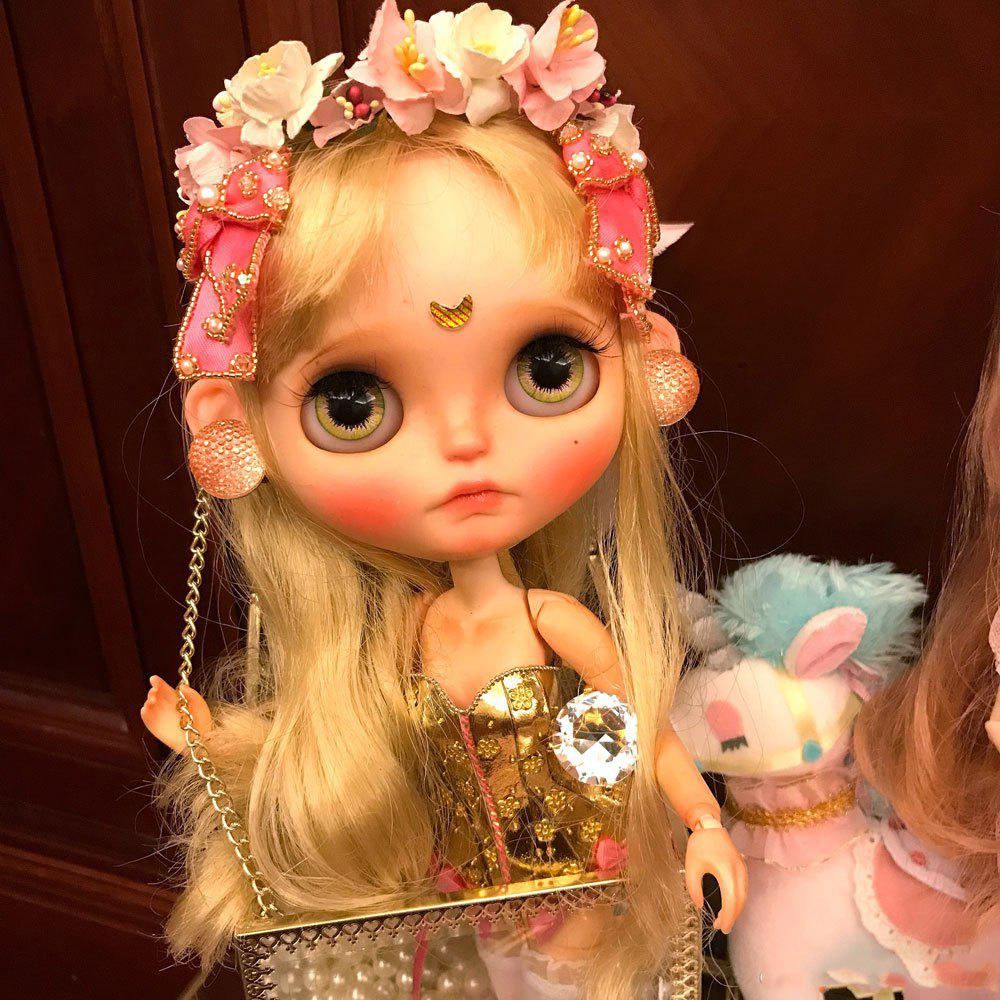Blythe Doll 1/6 of Gold and Silver Dresses Cute Girls Boutique Gifts - ORANGE GOLD 32CM / 12.6 INCH