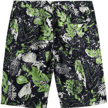 Beach Flower Printed Loose Shorts - multicolor C 32