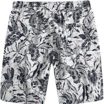 Beach Flower Printed Loose Shorts - multicolor E 31