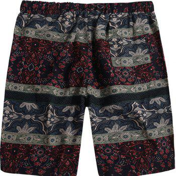 Beach Flower Printed Loose Shorts - multicolor H 32