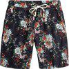 Men Beach Flower Printed Loose Shorts - multicolor B 4XL