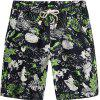 Beach Flower Printed Loose Shorts - multicolor H 30