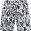 Beach Flower Printed Loose Shorts - multicolor E 27