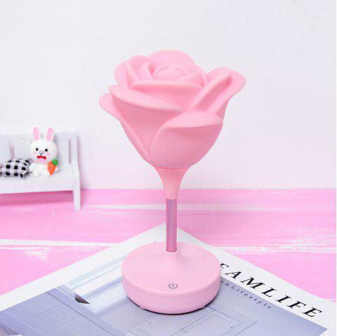 USB Charging Touch Rose Night Light - PINK