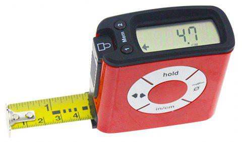 5 Meters Digital Steel Tape Measure Suitable for Precision Engineering - BEAN RED