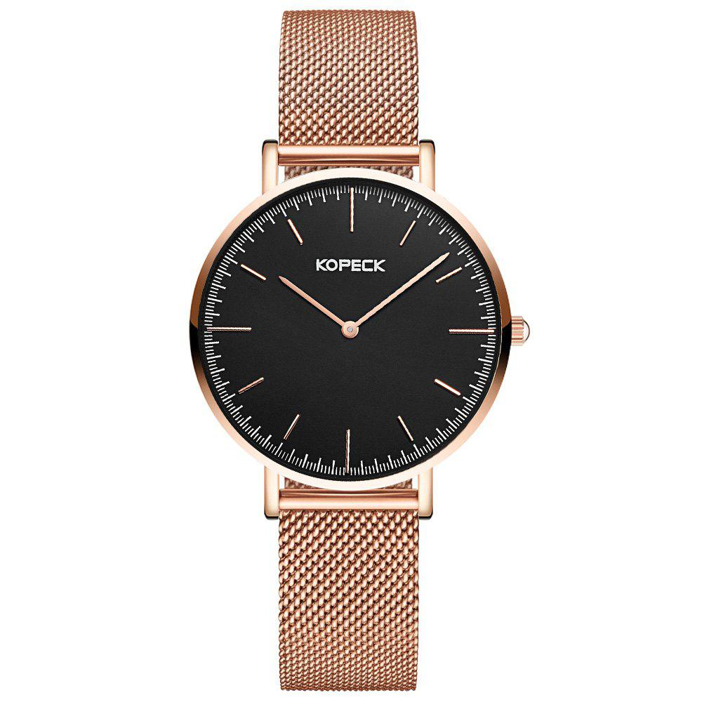 KOPECK 6007 Couples Quartz Analog Calendar Watch - ROSE GOLD MALE