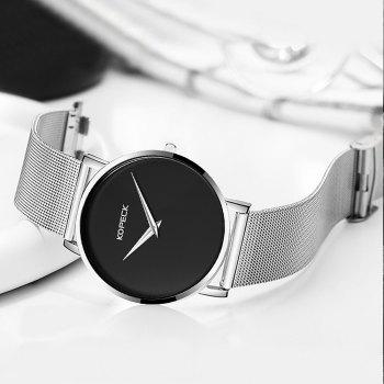 KOPECK 6008 Couples Quartz Analog Calendar Watch - SILVER FEMALE