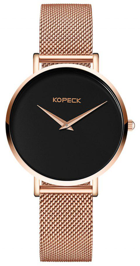 KOPECK 6009 Couples Quartz Analog Calendar Watch - ROSE GOLD MALE