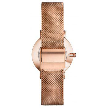 KOPECK 6009 Couples Quartz Analog Calendar Watch - ROSE GOLD FEMALE