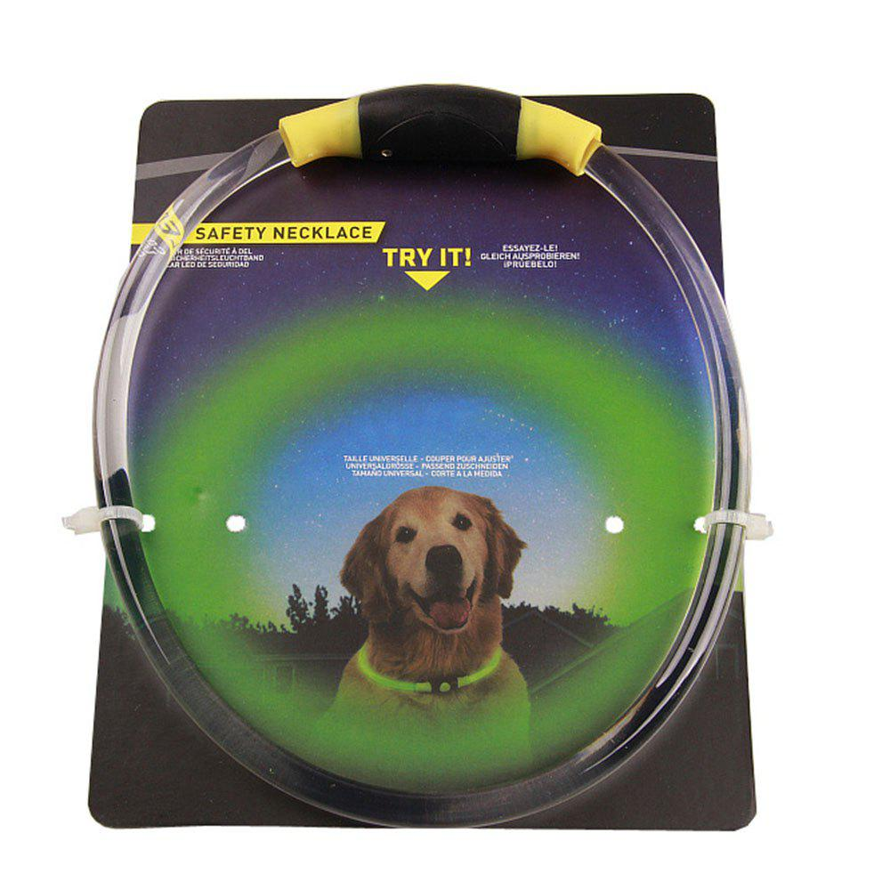 Transparent PVC Pet Dog Collar - YELLOW