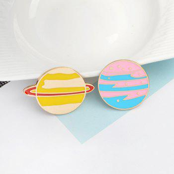 The New Cute Cartoon Planet Brooch All-Match Fashion Personality - BUTTERFLY BLUE 2.3X2.3CM