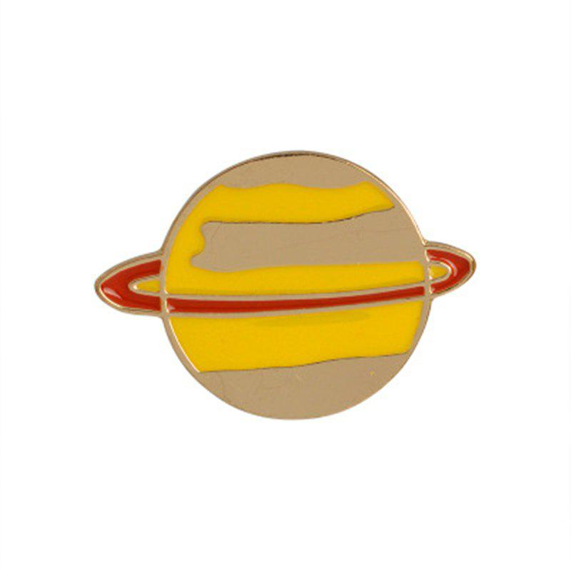 The New Cute Cartoon Planet Brooch All-Match Fashion Personality - ORANGE GOLD 2.3X3.2CM