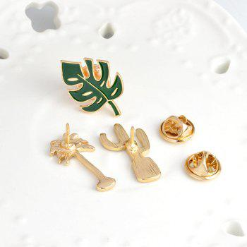 Fashion Personality Plant High-Grade Brooch Costumes Cactus Pin - PINE GREEN 2.6X1.5CM