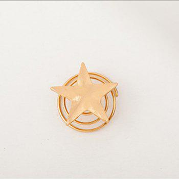 Simple Features Jewelry Gold Star Spring Clip Spiral Bride Hair Headdress 5PCS - GOLD 1.1CM
