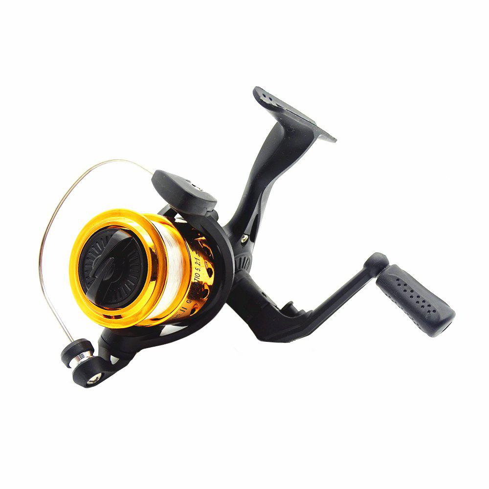 Outdoors Spinning Wheel Type Fishing Reel Plating Hairtail Line 80 Meters - YELLOW
