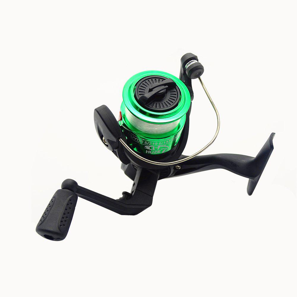 Outdoors Spinning Wheel Type Fishing Reel Plating Hairtail Line 80 Meters - GREEN