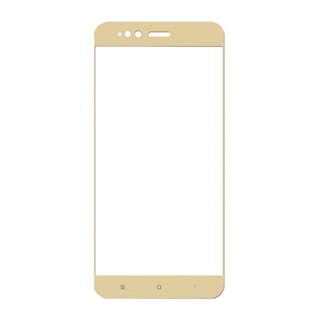3D Full Cover Tempered Glass for Xiaomi 5X HD Screen Protector Film - GOLDEN BROWN