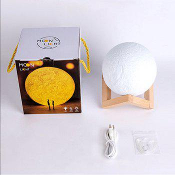 YouOKLight YK2308 Bluetooth Speaker 3 Colors Moon Lamp 13cm Dimmable Night Light - WHITE