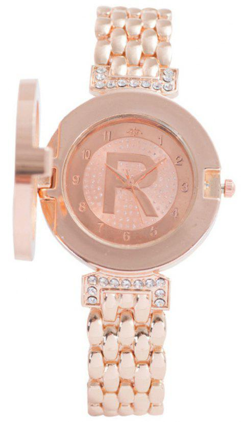 Fashion New Lady Flip Casual Quartz R Watch - ROSE GOLD