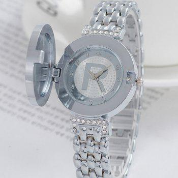 Fashion New Lady Flip Casual Quartz R Watch - SILVER