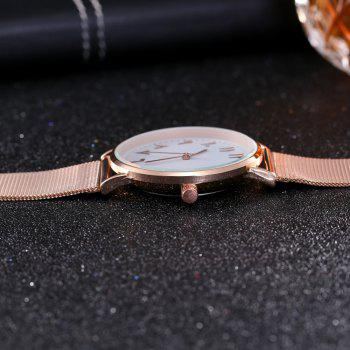 New Fashion Lady Alloy Mesh Band Student Casual Watch - ROSE GOLD
