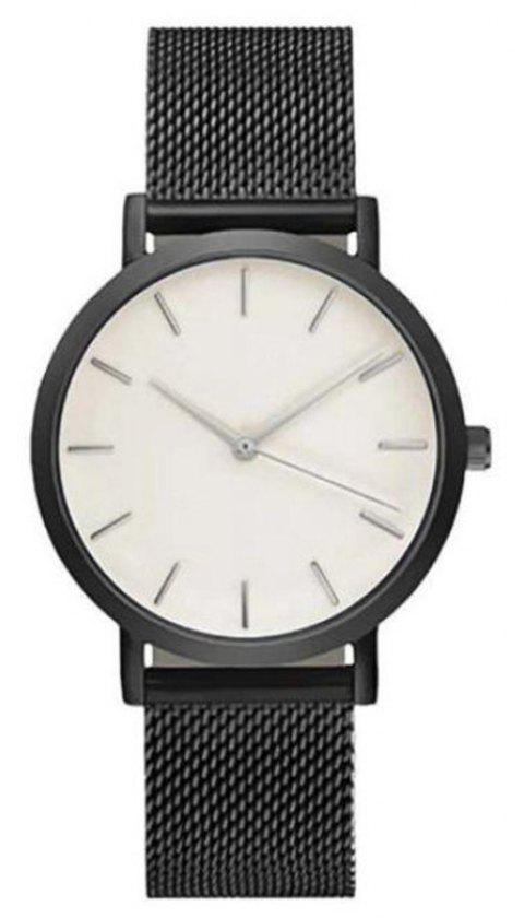 Fashion Women Business Stainless Steel  Minimalist Quartz Wrist Watch - WHITE