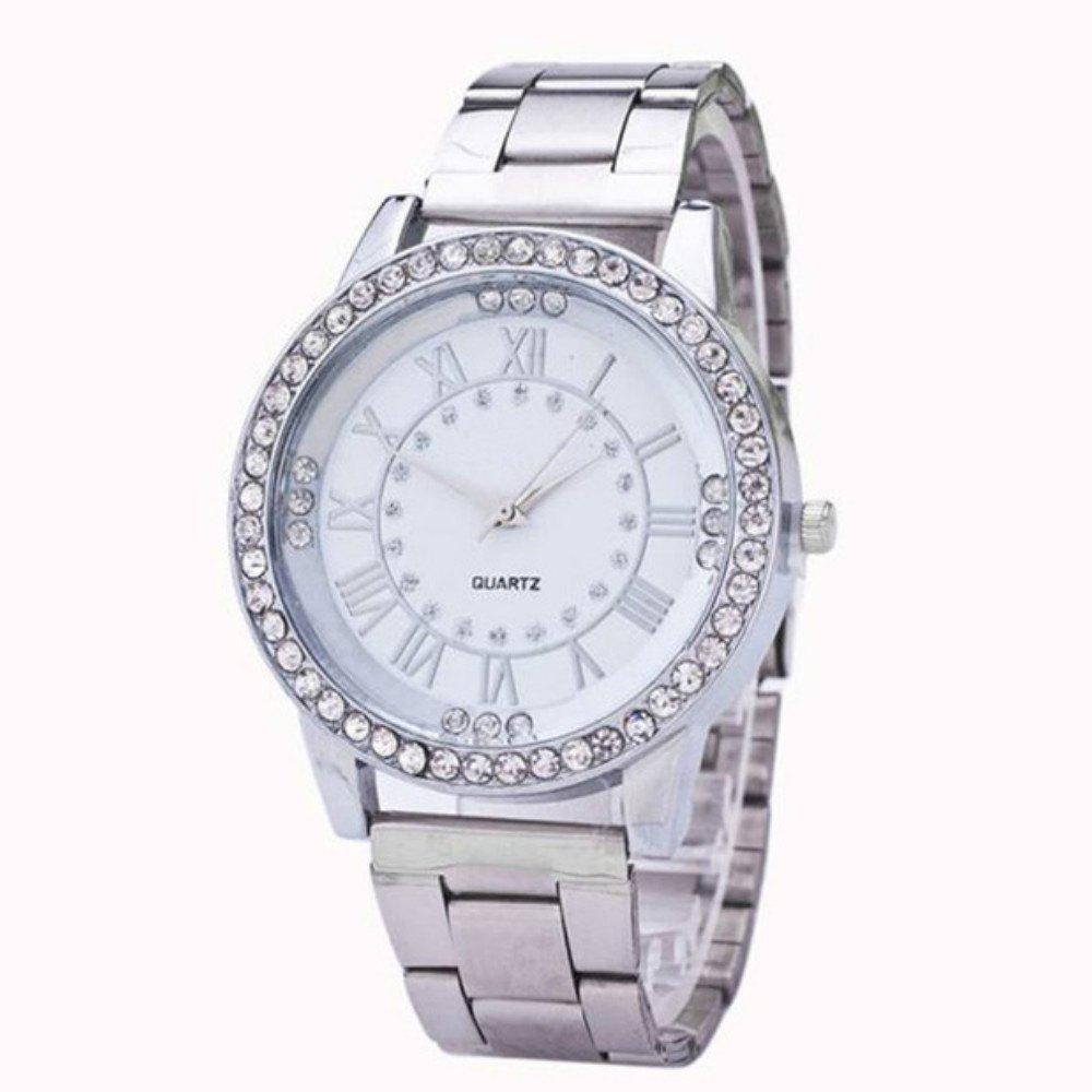 Ladies Fashion Business Diamond Quartz Watch - SILVER