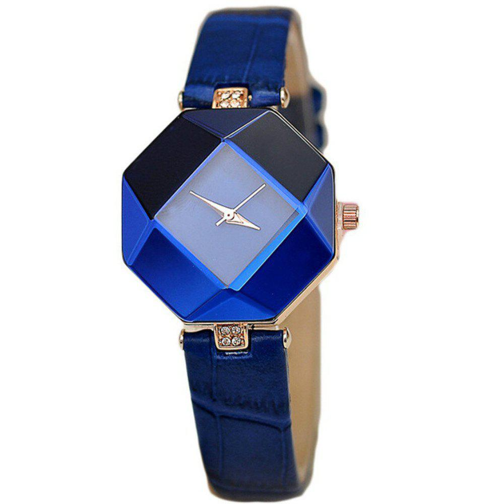 Le dernier diamant Fashion Rhombus Lady Regarder Student Leisure Fashion Watch - Bleu Foncé