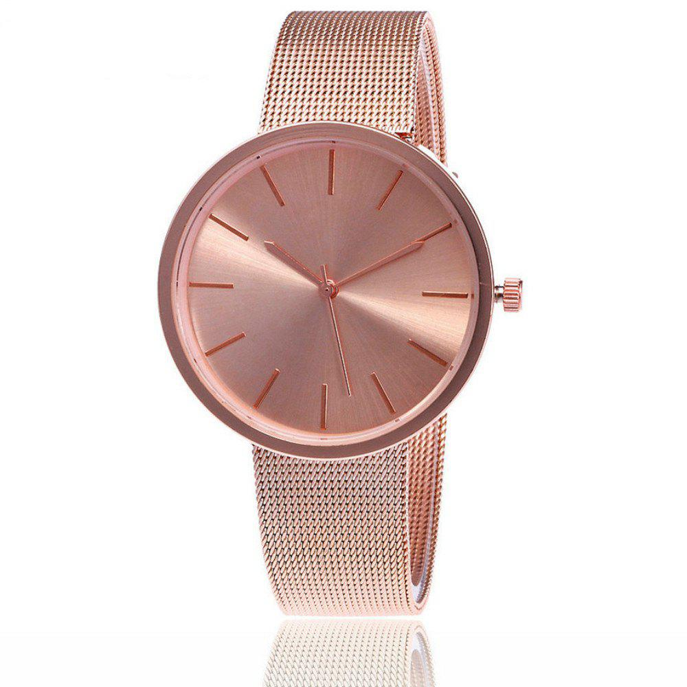 Fashion Silver And Rose Gold Mesh Band Wrist Casual Women Quartz Watch weiqin real ceramic women watch brand luxury diamond fashion watches ladies rose gold wrist watch quartz hours relogios feminino