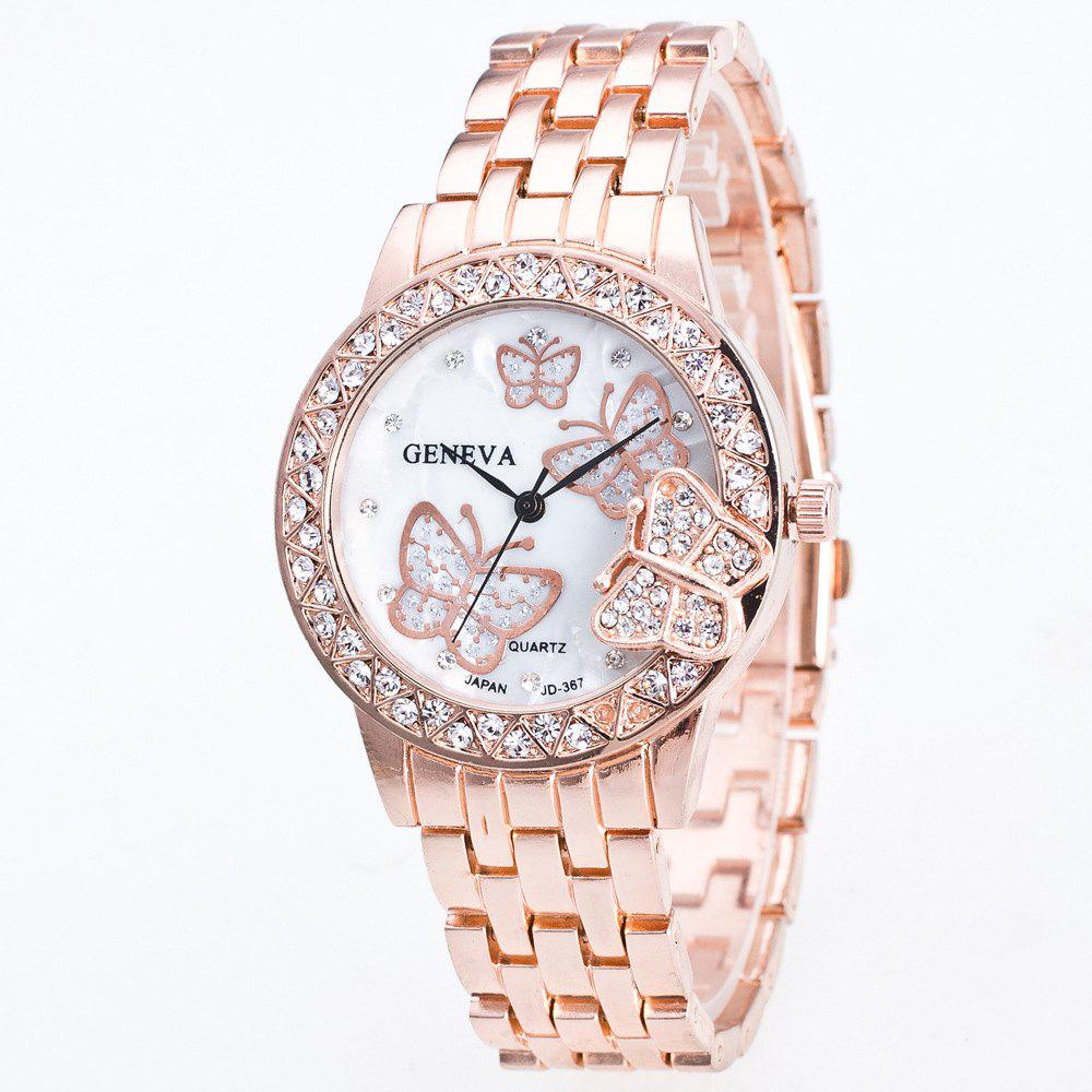 Fashion Diamond Ladies Watch Gold Butterfly Steel Band Quartz Watch weiqin real ceramic women watch brand luxury diamond fashion watches ladies rose gold wrist watch quartz hours relogios feminino