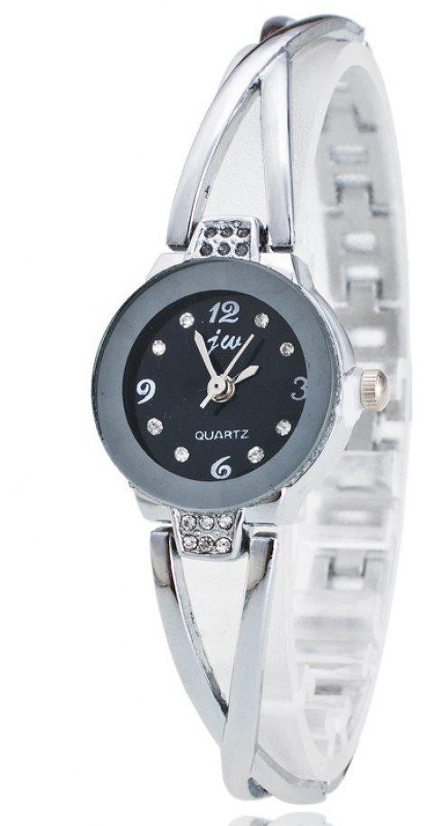 Korean Fashion Business Female  Casual Student Bracelet Quatrz Watch - SILVER