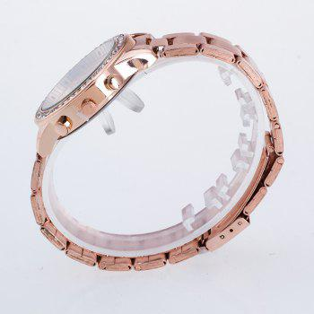 The New Fashion Lady Business Steel Quartz Diamond Wrist Watch - ROSE GOLD