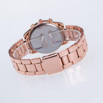 La nouvelle montre-bracelet en acier à quartz à quartz en acier New Fashion Lady Business - Or Rose