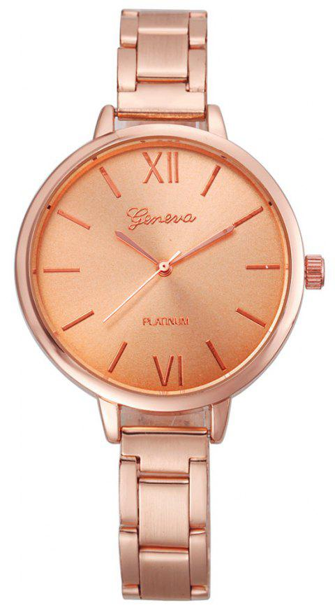 Classic Gold Silver Rose Gold Fashion Women Small Steel Band Thin Band Watch - ROSE GOLD
